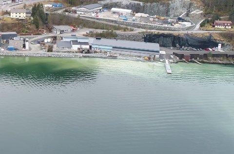 VEST: Vest i Breivika ligg naustrekkene i forlenginga av industriutbbyginga til Breivika Eigedom.