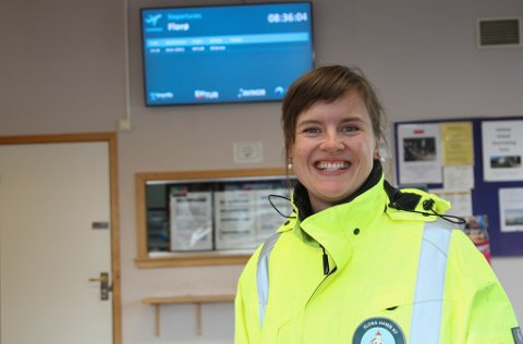 NY STILLING: Hamnesjef Linda Mortensen Midtbø har fått inn 22 søknader til den ledige stillinga i Florø Hamn KF.
