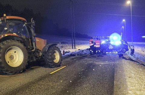 Fatalt utfall: En mann omkom i ulykken.
