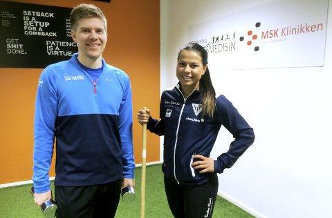LØPEGRUPPE:  Marlen Aakre og Henrik Warpe-Kinn inviterer til å delta på løpegruppe. Foto: Vidar Henriksen