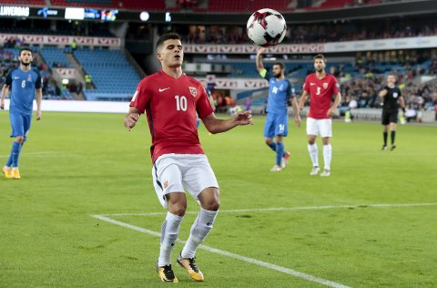 NY LANDSKAMP: Tarik Elyounoussi får tillit til kveldens kamp mot Albania. Foto: Håkon Mosvold Larsen