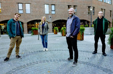 Teamet bak Fredrikstad Animation Festival er klar for ny runde med festival. Fra venstre: Jonas Saabel, Marit Krogstad, Anders Narverud Moen og Hermund Dale