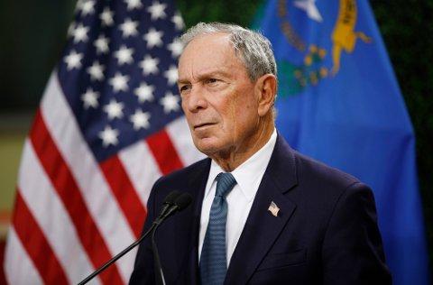 Michael Bloomberg (79) står på listen for verdens ti rikeste i 2019. i fjor stilte han som kandidat til presidentvervet i USA. Nå har hans selskap Bloomberg Philantrophies fattet interesse for Fredrikstad-firmaet CUBE8. Foto: Nettavisen og NTB-Scanpix