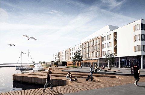 HOTELL PÅ BRYGGA: Ingen tvil. I 2020 skal det nye hotellet på Rustadbrygga åpne med 180 rom.