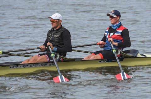 Olaf Tufte og Kjetil Borch er klare for VM-finalen etter fredagens semifinaleheat.