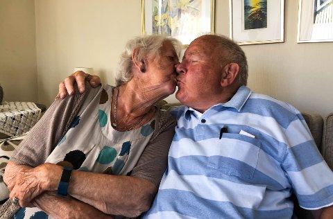 KRONJUVELBRYLLUP: Grethe Ryvænge og Mogens Ryvænge har vært gift i 65 år, men forholdet har aldri vært bedre enn nå.
