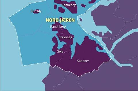 NHO mener Norge klarer seg med 100 kommuner. Nord-Jæren er en av dem.