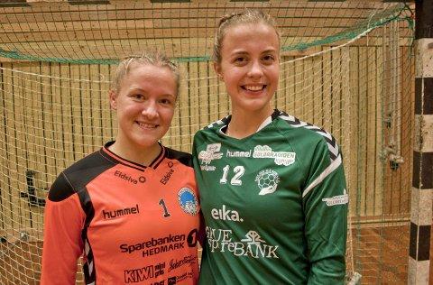HEFTIG START: F.v.: Amanda Jahr og Kirsten Bjerkestrand Sørby kunne begge fortelle om en heftig start på årets 3. divisjon.