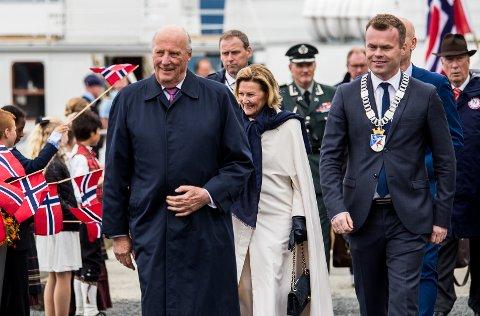 Kongeparet besøker Vingnes 11. juni 2017.