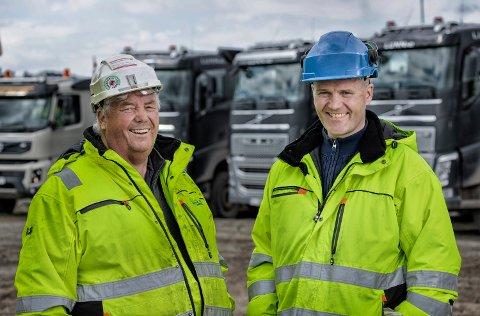Per Arne og Stian Lunn i Brødrene Lunn AS glede seg over at omsetningen nesten tredobles til nærmere 130 millioner kroner i 2018.