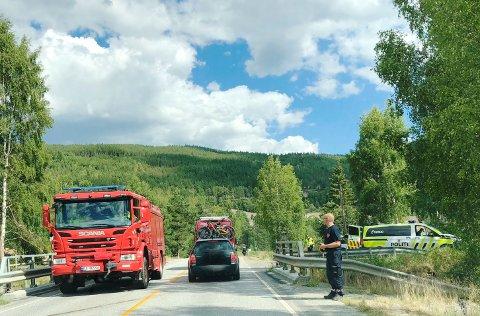 TRAFIKKULYKKE: Det var torsdag ettermiddag at en bil ble påkjørt bakfra mellom Lalm og Vågå.