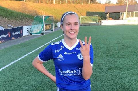 Amalie Rød scoret tre mål i 8-0-seieren mot Nordre Trysil.