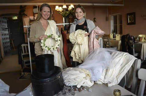 STOR PRODUKSJON: Lillian Baur (t.v.) og Marita Rognøy er to av drøyt 80 personer som er involvert i Den hvite dame så langt.