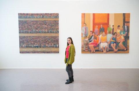 BREDDE: Martina Kaufmann fra Østlandsutstillingen mener bredden i årets utstilling er stor.