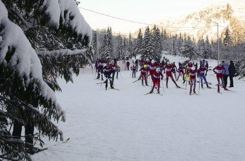 Bra skiføre: Det er meldt om bedre vær på Korlevoll til helgen. Kanskje like bra som under julerennet i 2015.arkivfoto