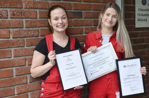 T.v.: Kathrine Tranøy og Ingrid Johansen har jobba hardt i tre år.
