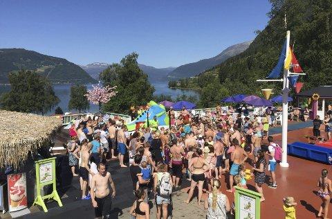 Rekord: 19. juli var beste dagen i år. Då vitja 2852 personar Mikkelparken. foto: privat