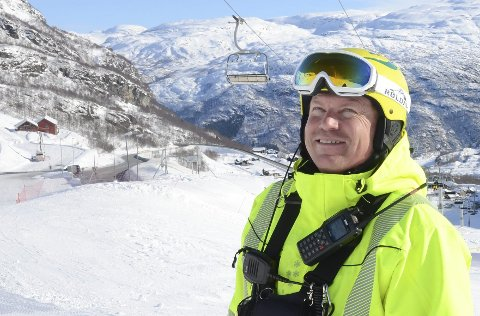 Røldal: Dagleg leiar ved Røldal skisenter, Oddvar Bratteteig, er svært nøgd med besøket i helga.arkivfoto: Kristin Eide