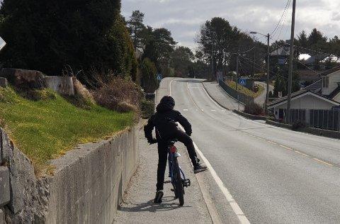 SMALT: Det skal ikke mye til før syklister havner i veibanen.