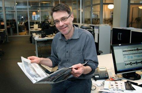 SKATT: Sjefredaktør Geir Arne Glad rigger redaksjonen i forkant av fredagens skattelister.