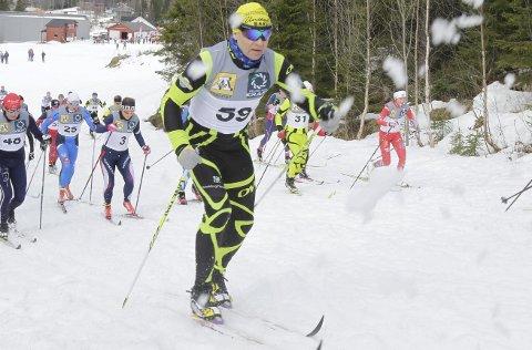 I toppen:  Ola Berget, Skauga imponerte igjen. Lørdag vant han sin klasse i Hattrennet og søndag bla han totalt nummer to i Majavassrennet.