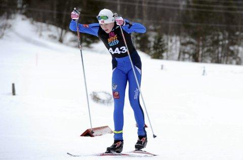 SATSER: Kristoffer Grønvik gikk tre brukbare renn i sitt første hovedlandsrenn.