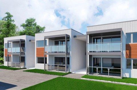 Slik vil de nye leilighetene i Egedes gate se ut når de etter planen skal stå ferdig til jul neste år.
