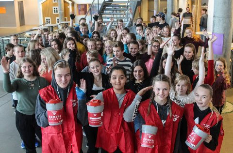 Elever på Kippermoen ungdomsskole gjør en innsats for andre.
