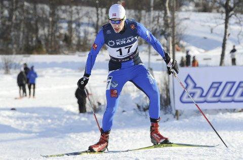 FINALE: Emil Storjord Vilhelmsen fra Mosjøen IL kvalifiserte seg til finalen i Trondheim Skishow i Granåsen.  FOTO: ARNE BRUNES