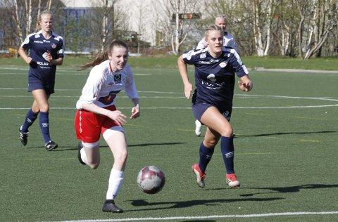 SCORING: Emilie Wiik scoret da Halsøy fikk en etterlengtet seier på hjemmebane mot Fauske/Sprint.  Foto: Per Vikan