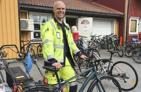 PREMIER: I fjor vant Erik Berg en sykkel fra Bredesen sykkelservice i «Sykle til jobben».  Foto: Vefsn kommune