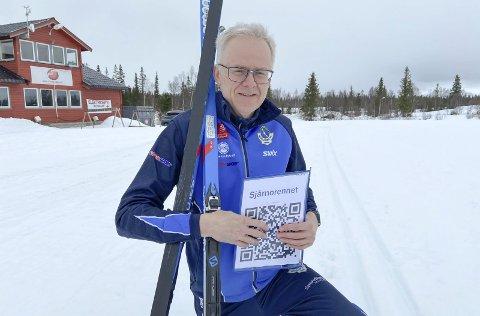 NYTT TURRENN: Fra 29. mars til mandag 5. april kan du gå et helt nytt turrenn. Bjørn Rønning på start- og målstedet på skistadion.