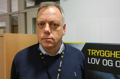 PÅTALELEDER: Påtaleleder Morten Daae sier at det ikke er uvanlig at politiet opplever truende og utagerende mennesker på jobb.