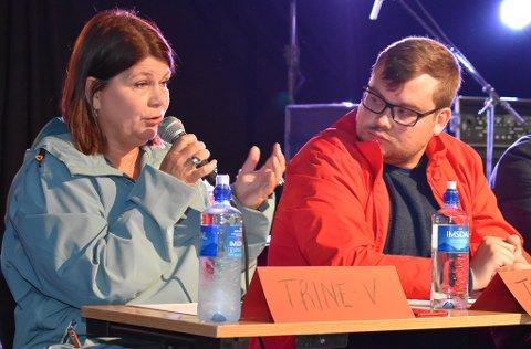 FELLES KRETS: Trine Noodt (V) var den eneste som sa ja til felles stortingsvalgkrets for Finnmark og Troms. Til høyre Tarjei Jensen Bech fra Ap, det eneste partiet som stilte med 3. kandidat.
