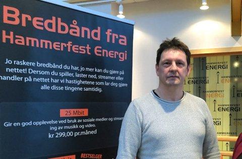 - DEMENTERT: - Beboere i Rypefjord har ringt inn til vårt kundesenter og spurt om det er korrekt at vi ikke skal bygge ut i Rypefjord. Noe som er dementert, sier daglig leder for Hammerfest Energi Bredbånd, Sigurd Helsing.