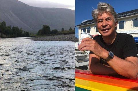 Svein-Roger Johansen fikk en ubehagelig opplevelse da han var ute med elvebåt i helga.