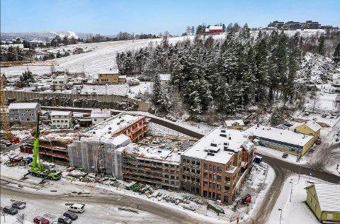 BYGGES UT: Totalt inneholder prosjektet 93 leiligheter, og 80 av dem er allerede solgt.