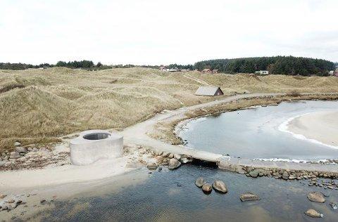 TREKLØVER-DO: Arkitektane har late seg inspirera av trekløveren i sitt forslag til toalett- og dusjbygg på Brusand.