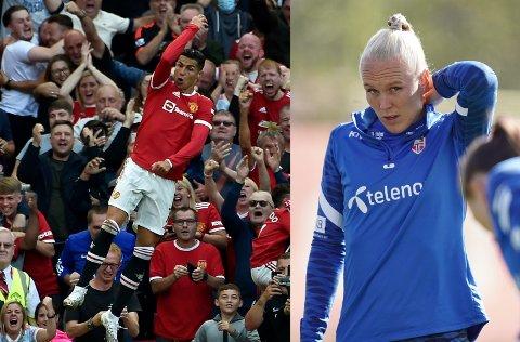 – Det har vært helt ekstremt, sier Maria Thorisdottir om interessen for Cristiano Ronaldo i Manchester. Superstjernen har nå scoret tre mål på to kamper for Premier League-giganten.