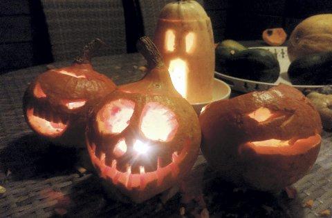 Skrekk og gru: Det blir halloween-feiring på Eidsfoss hovedgård lørdag.arkivfoto