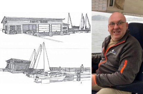 BYGGEPLANER: Båthuset er prosjektert med et bebygd areal på like under 250 kvadratmeter. Politikerne er positive til Geir Aasviks prosjekt.