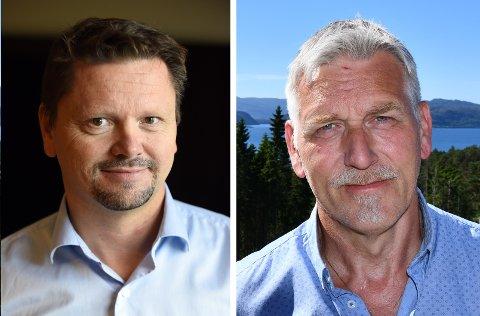Styreleiar Sverre Olav Handeland (t.v.) og styremedlem Håkon Røstbø i Sunnfast.