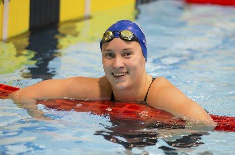 I GOD FORM: Kongsbergjenta Jenny Marie Halden satte personlig rekord på fem av seks øvelser i NM og tok til sammen ni medaljer.FOTO: RUNE HELLE