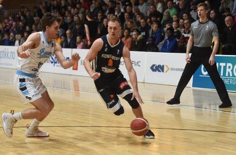 TOPPSCORER: Nikolas Skouen (med ballen) ble Miners' toppscorer mot Fyllingen.