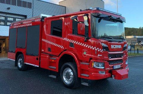 NY BRANNBIL: Mandag tok Kongsberg brann- og redningstjenste i bruk den nye doningen.