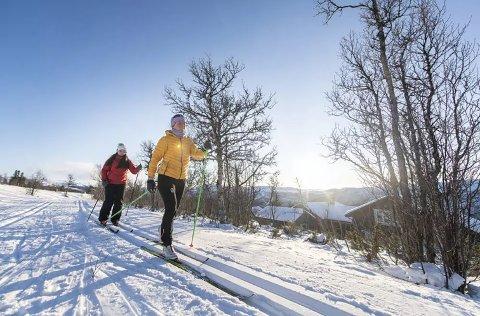 STRÅLENDE: Det meldes om strålende forhold i skiløypene i Numedal. Her fra Fjellsnaret i Nore og Uvdal.