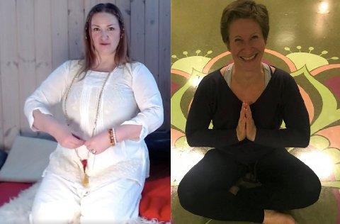 Yogainstruktørene Runhild Olsen (til venstre) og Mona Sveum (til høyre).