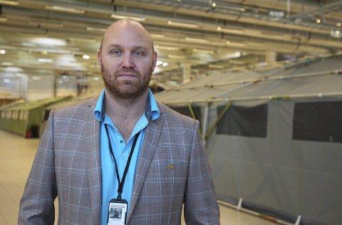 Hero: Leder Helge Ekelund har foretatt grep som skal skape større sikkerhet og flyt ved mottakssenteret i Råde.foto: Geir Hansen
