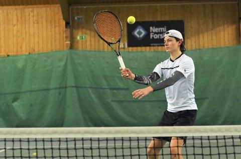 For norge: Jacob Krefting setter Moss Tennisklubb på kartet. Foto: Petter Andresen