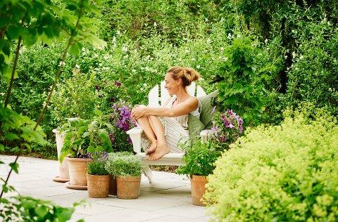 SOMMERTID I HAGEN: Plantasjens erfarne gartner, Hans Jensen, deler tips til hvordan holde hagen frodig med enkle grep.
